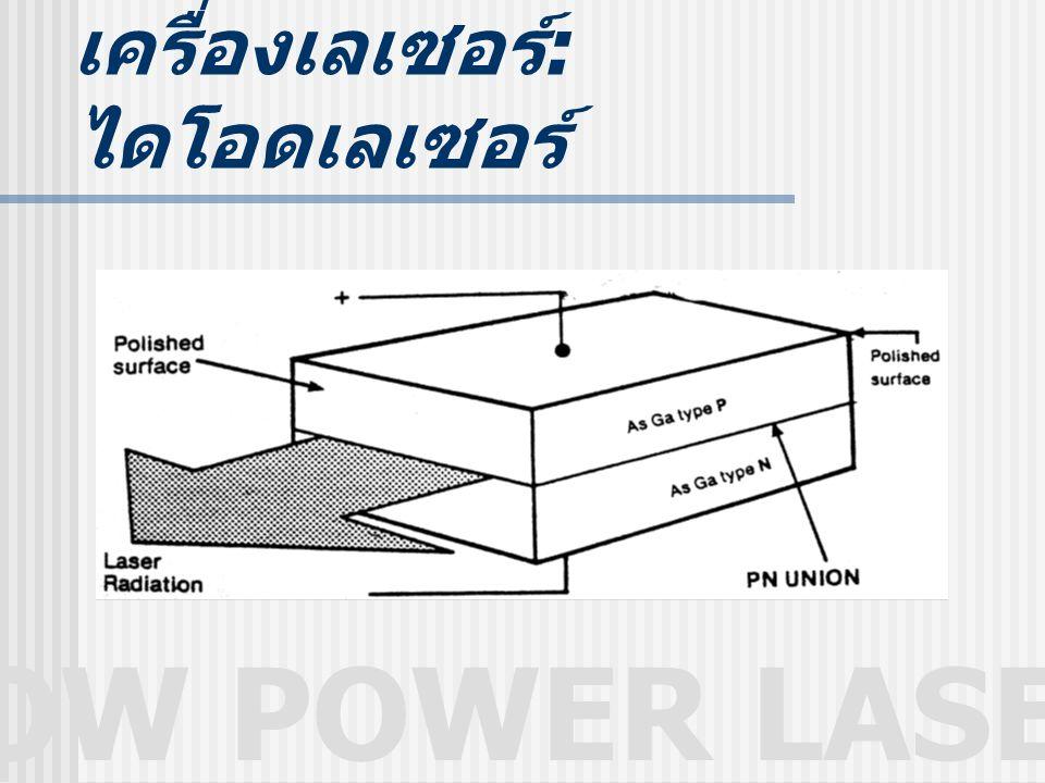 LOW POWER LASER เครื่องเลเซอร์ : ไดโอดเลเซอร์