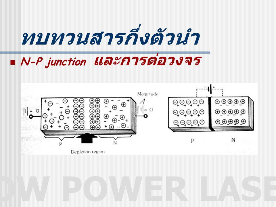 LOW POWER LASER ทบทวนสารกึ่งตัวนำ N-P junction และการต่อวงจร
