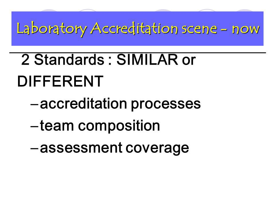 The checklist / questionnaires for accreditation provide a point of reference provide inspectors with a guide through the critical points