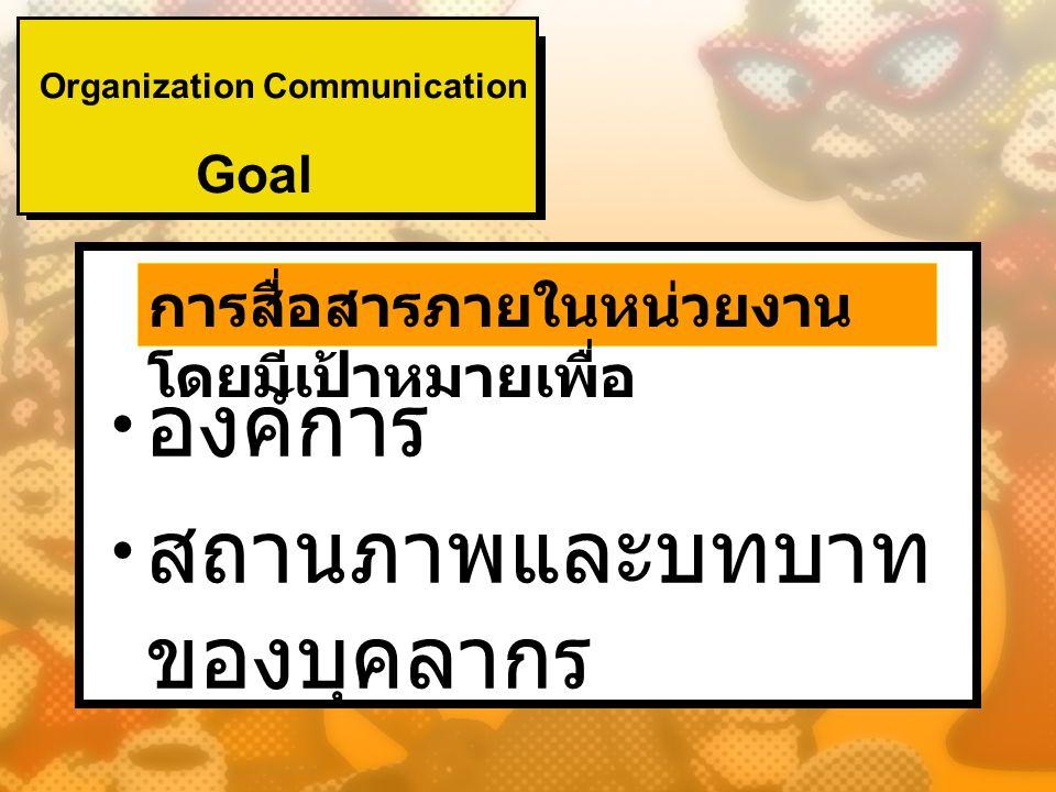 ความสำคัญของ การสื่อสารที่มีต่อ บุคคลในองค์การ Conrad (1989) บุคคลใดที่เข้าใจลึกซึ้งถึงหน้าที่และ ประโยชน์ของการสื่อสารที่มีต่อองค์การ และต่อบุคคล และสามารถใช้ทักษะการ สื่อสารให้เป็นประโยชน์ตามกาลโอกาส ในการปฏิบัติงาน ไม่ว่าจะเป็นทักษะการ เขียน การอ่าน การพูด จะเป็นบุคคลที่มี โอกาสก้าวหน้าไปอย่างรวดเร็ว และ ความสามารถดังกล่าวจะเป็นประโยชน์ อย่างมากต่อองค์การเช่นกัน
