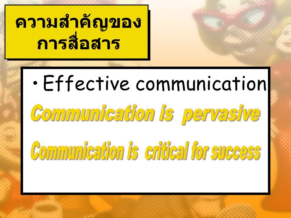 ความสำคัญของ การสื่อสาร Effective communication