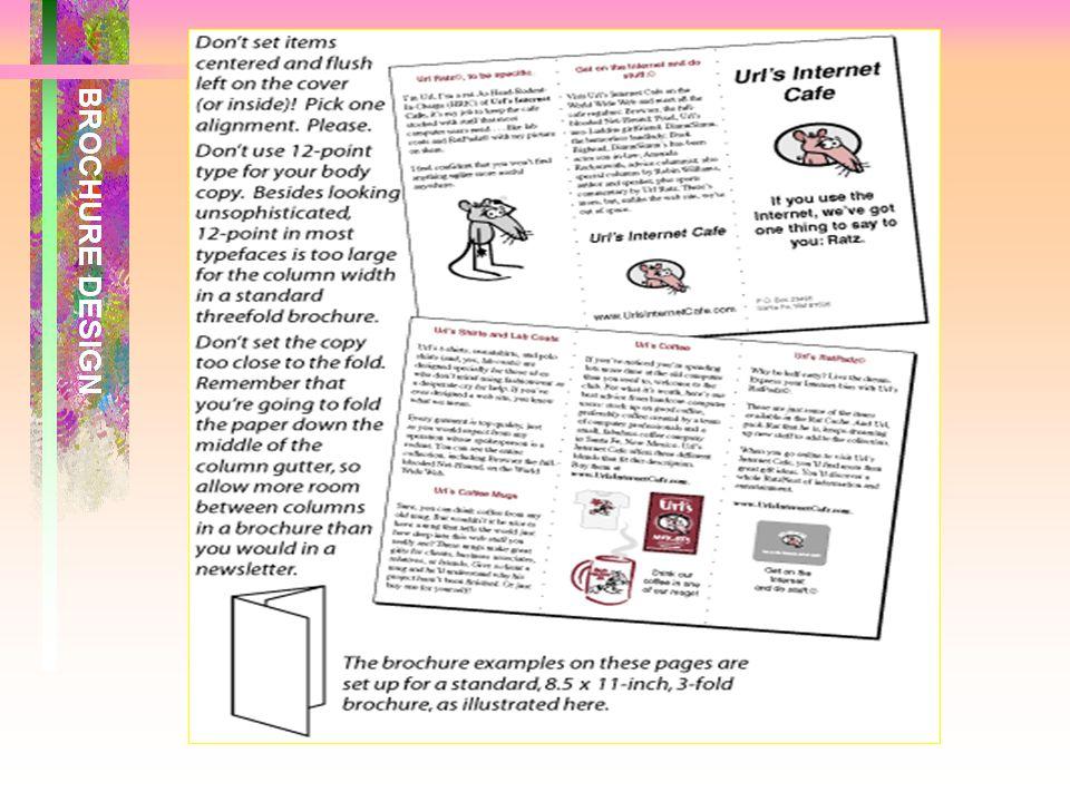เมื่อมองภาพรวมของแผ่นพับ ที่คลี่แล้วต้อง สร้างความรู้สึกที่ดี และความ ประทับใจแก่ ผู้อ่าน สามารถชักชวนให้ ผู้อ่านพิจารณาภาพ และข้อความทั้งหมดทั้ง ด้าน