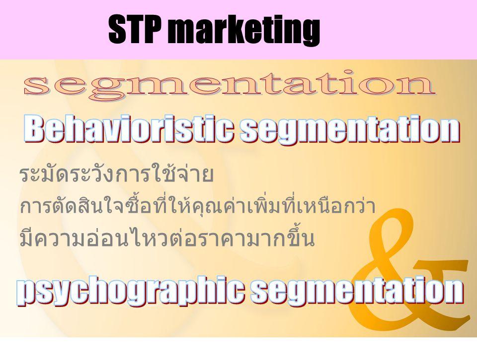 STP marketing ระมัดระวังการใช้จ่าย การตัดสินใจซื้อที่ให้คุณค่าเพิ่มที่เหนือกว่า มีความอ่อนไหวต่อราคามากขึ้น