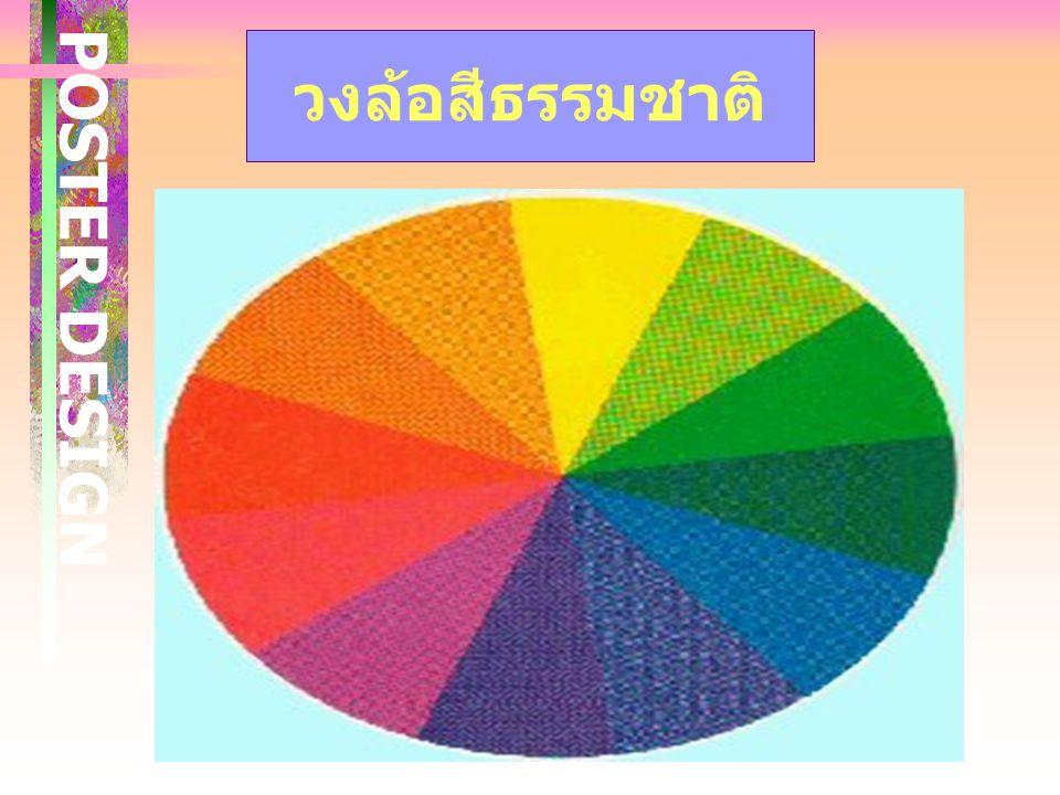 การกำหนดโครงสี เพื่อเน้นข้อความให้เด่นชัด ขึ้น สวยงามขึ้น ค่าน้ำหนักของสี ( การ ตัดกันของสีตัวอักษรกับสี พื้น ) สีที่ใช้กับตัวอักษร ไม่ ควรมากเกินไป ใ