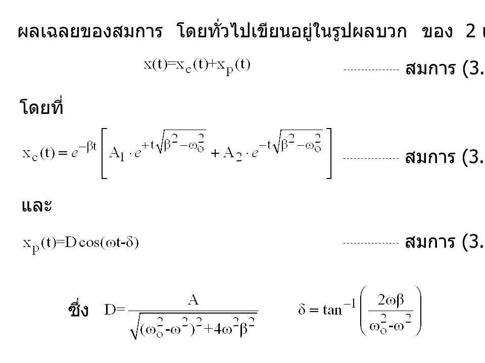 ผลเฉลยของสมการ โดยทั่วไปเขียนอยู่ในรูปผลบวก ของ 2 เทอม สมการ (3.62) โดยที่ สมการ (3.54) และ สมการ (3.55) ซึ่ง