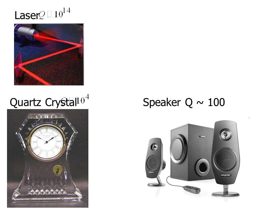Laser Quartz Crystal Speaker Q ~ 100