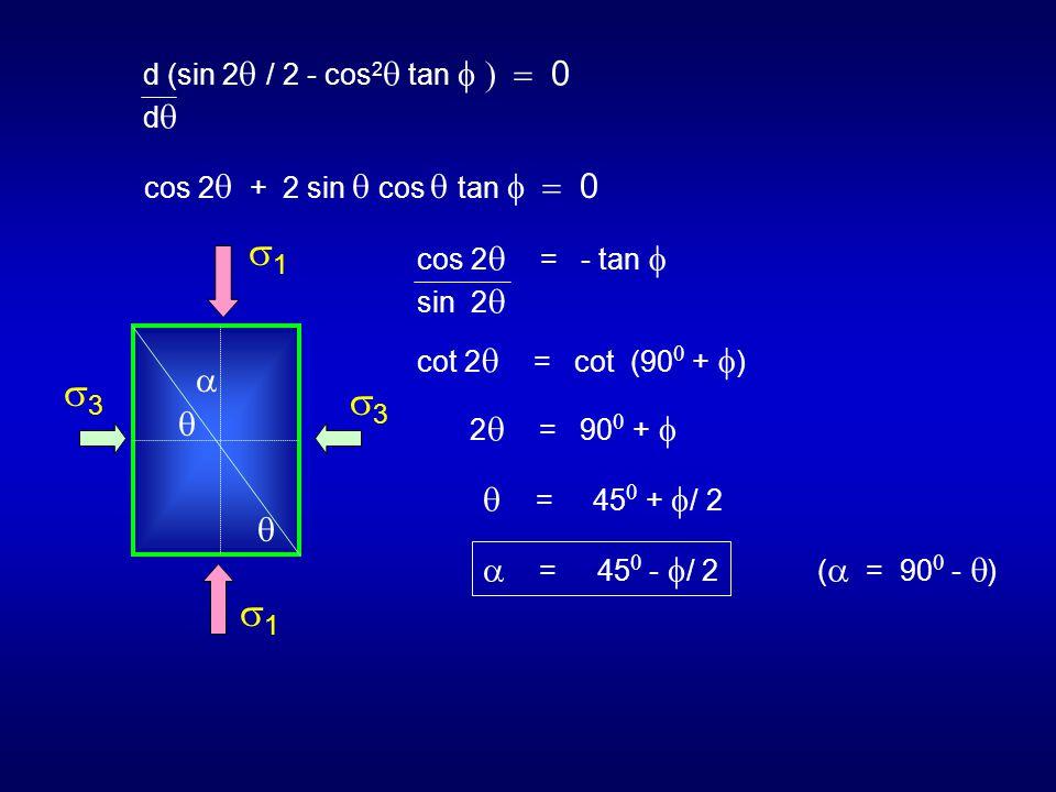d (sin 2  / 2 - cos 2  tan  d  cos 2  + 2 sin  cos  tan  cos 2  = - tan  sin 2  cot 2  = cot (90  +  ) 2 
