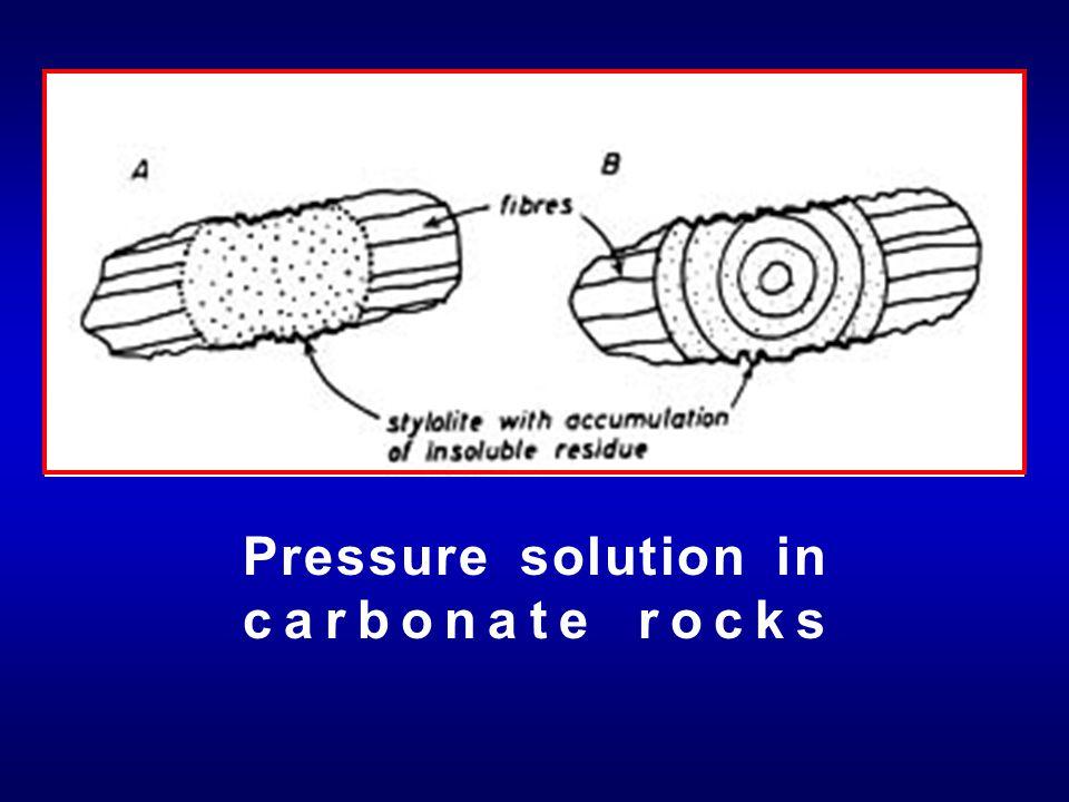 Pressure solution in carbonate rocks