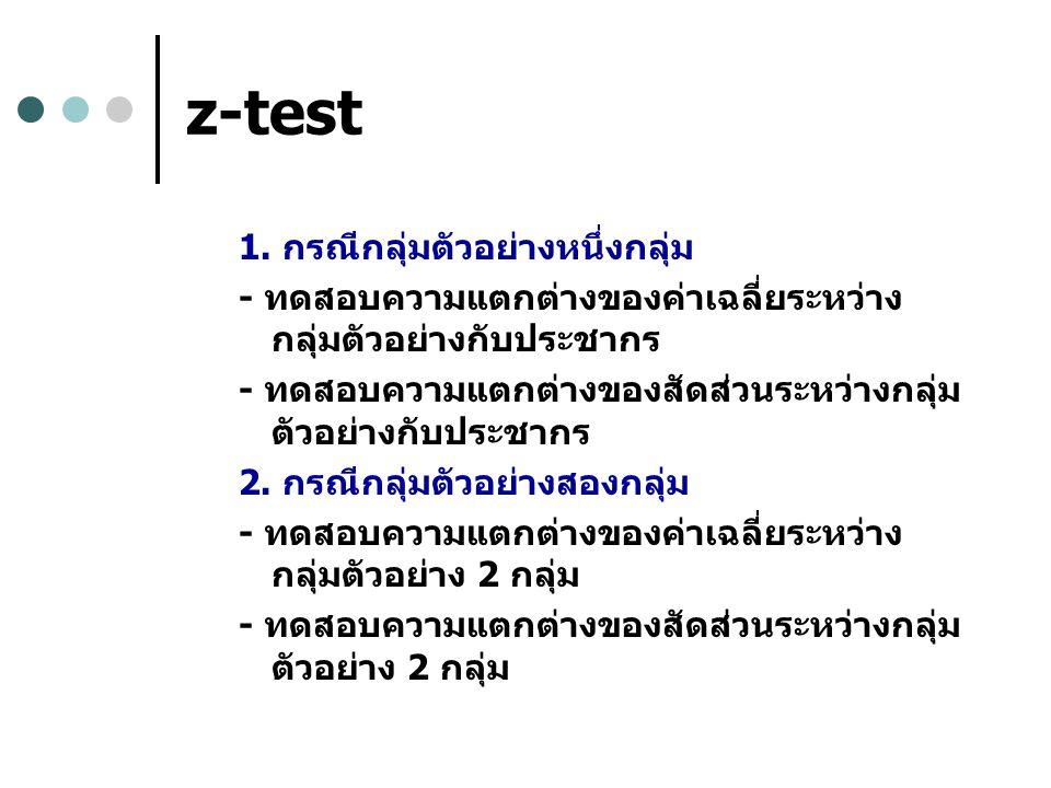z-test 1.