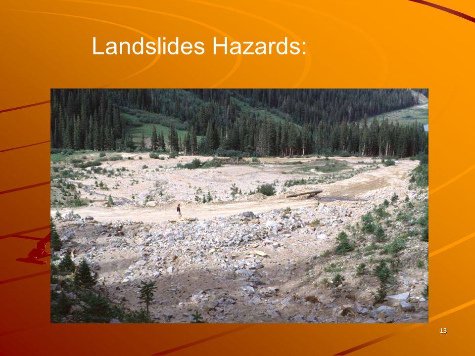 13 Landslides Hazards:
