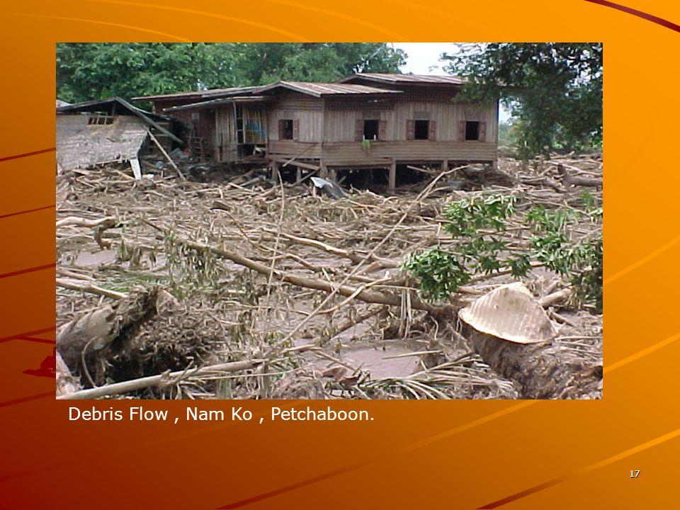17 Debris Flow, Nam Ko, Petchaboon.