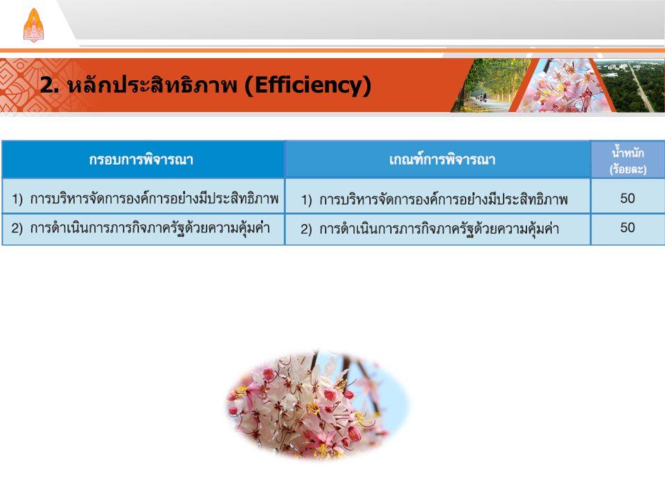 2. หลักประสิทธิภาพ (Efficiency)