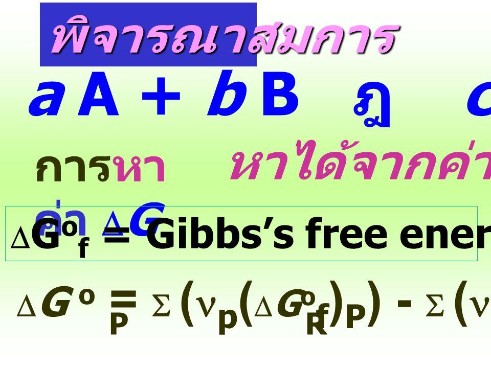 """"""" สรุป """" dG = O ปฏิกิริยาเกิดแบบย้อนกลับได้ Reversible Process (equilibrium) dG < O ปฏิกิริยาเกิดแต่ย้อนกลับไม่ได้ Spontaneous Irreversible dG > O ปฏิ"""