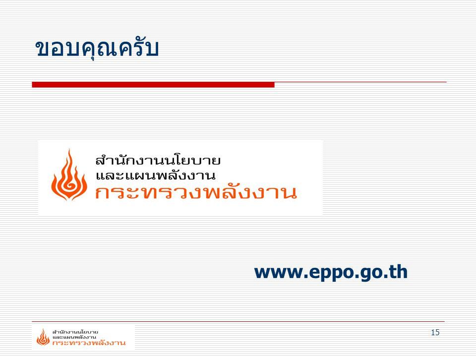 15 ขอบคุณครับ www.eppo.go.th