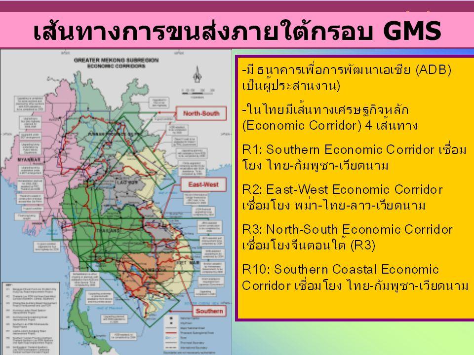 8 เส้นทางการขนส่งภายใต้กรอบ GMS