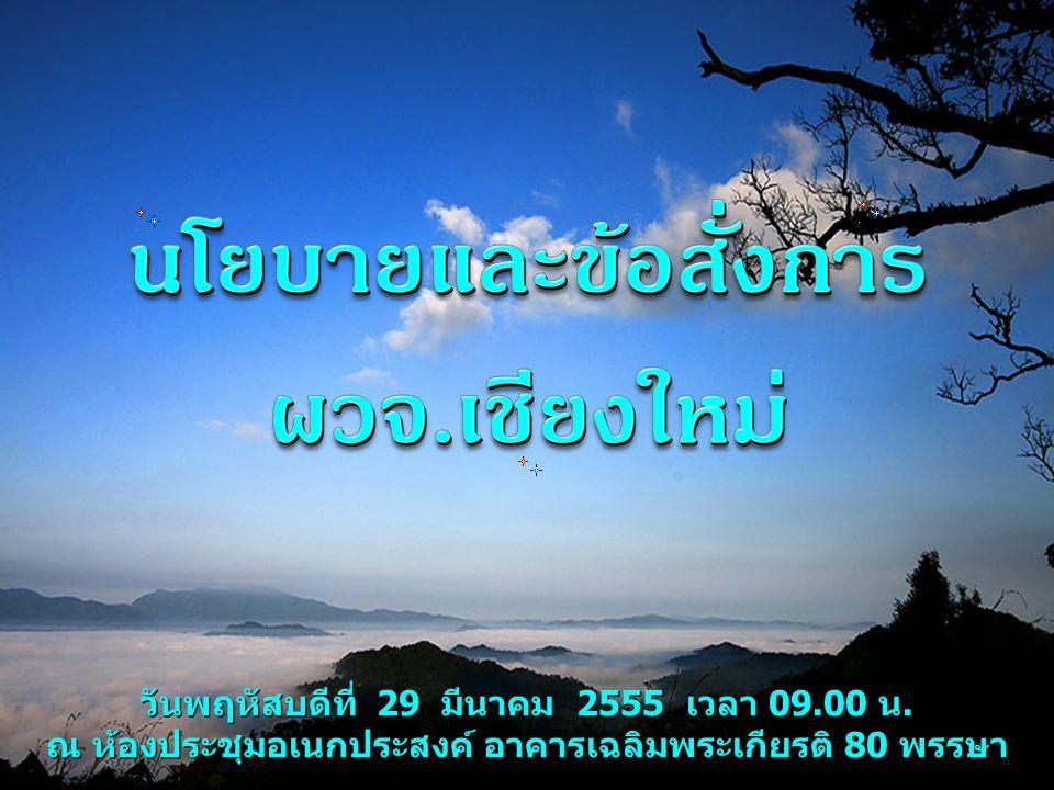 วันพฤหัสบดีที่ 29 มีนาคม 2555 เวลา 09.00 น. ณ ห้องประชุมอเนกประสงค์ อาคารเฉลิมพระเกียรติ 80 พรรษา