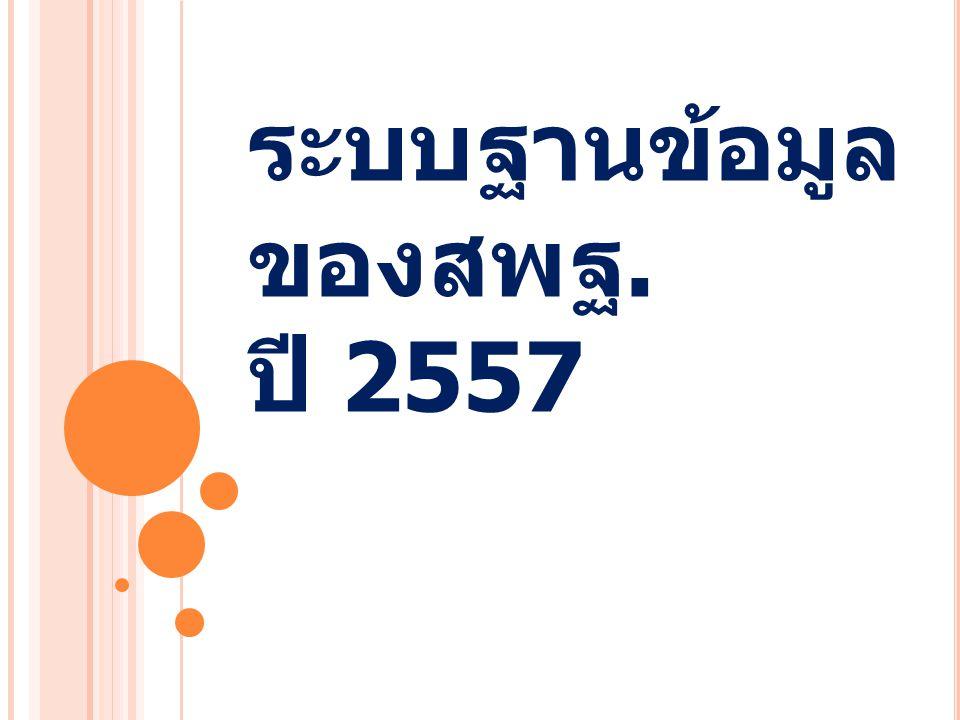 ระบบฐานข้อมูล ของสพฐ. ปี 2557