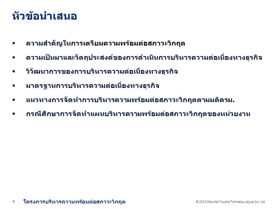 © 2013 Deloitte Touche Tohmatsu Jaiyos Co.