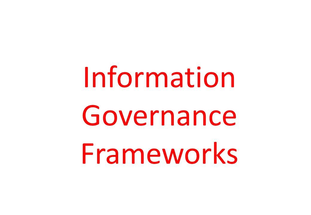 Governance Frameworks CEO Financial reporting function CIO Specific IT function IT security function COSO ITIL CobiT ISO 27000 family Security Guidelines Governance Frameworks