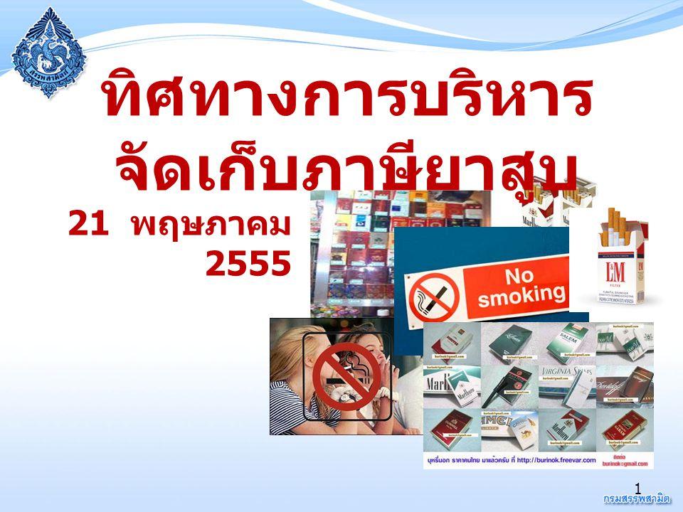 1 ทิศทางการบริหาร จัดเก็บภาษียาสูบ 21 พฤษภาคม 2555