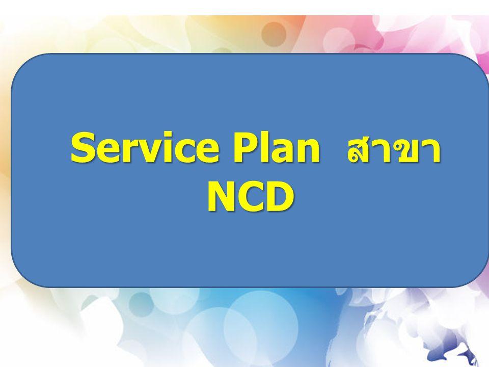 Service Plan สาขา NCD Service Plan สาขา NCD