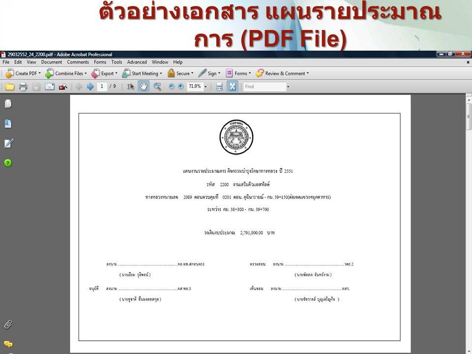 ตัวอย่างเอกสาร แผนรายประมาณ การ (PDF File) 17
