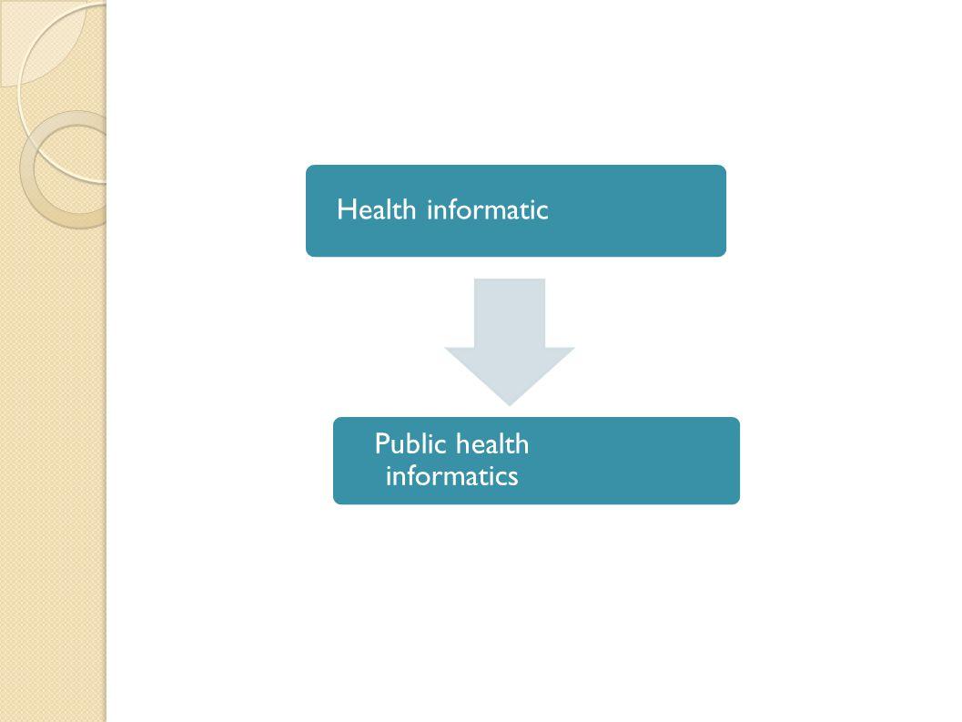 Health informatic Public health informatics