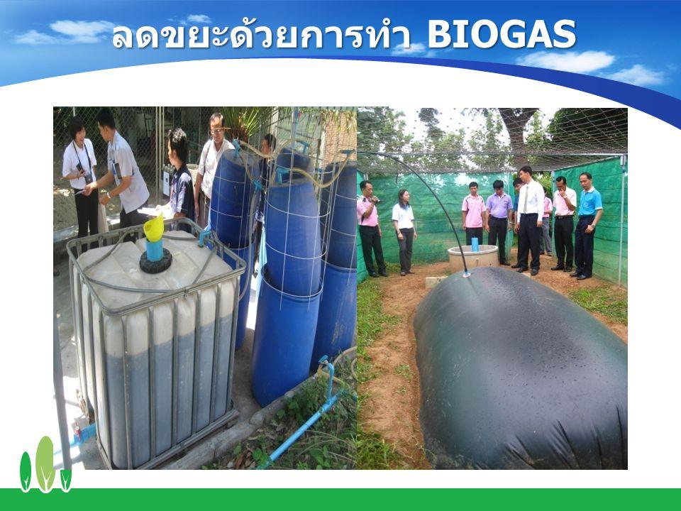 ลดขยะด้วยการทำ BIOGAS