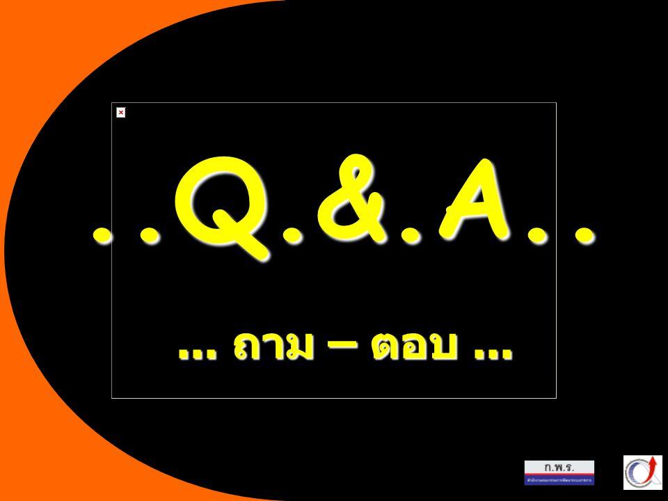 22... ถาม – ตอบ.....Q.&.A..