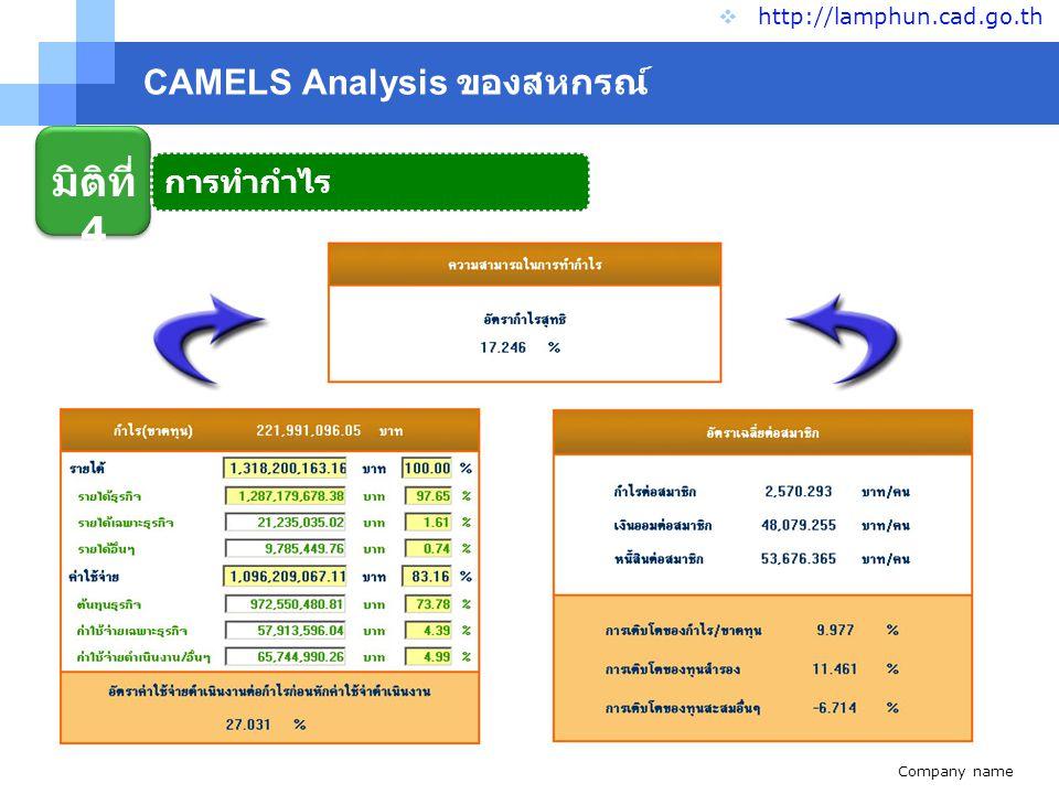 Company name www.themegallery.com CAMELS Analysis ของสหกรณ์  http://lamphun.cad.go.th มิติที่ 5 สภาพคล่อง
