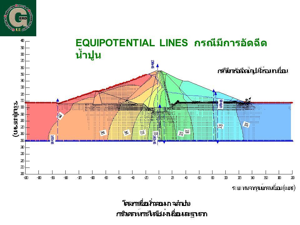 EQUIPOTENTIAL LINES กรณีมีการอัดฉีด น้ำปูน