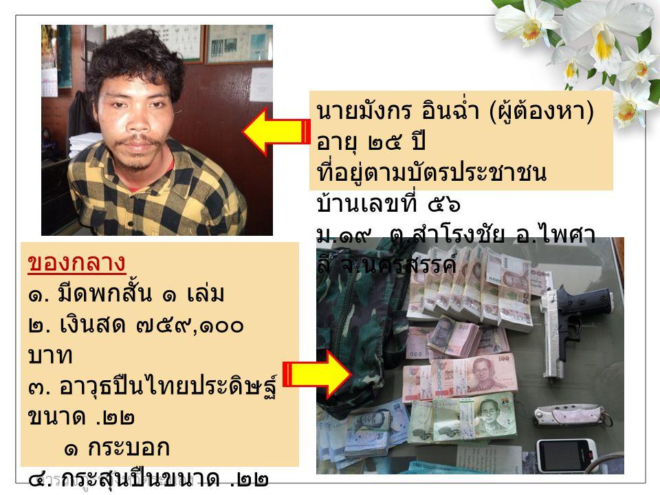 ภาพจากกล้องวงจรปิด ในธนาคารทหารไทย สาขากระบุรี