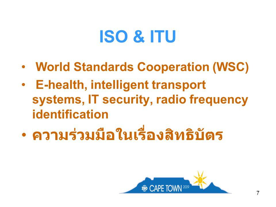 18 ISO Award for Higher Education in Standardization 2009 – Rotterdam School of Management, Erasmus University 2007 – China Jiliang University