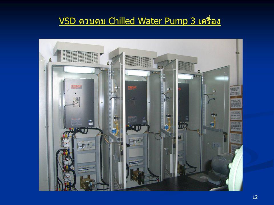 12 VSD ควบคุม Chilled Water Pump 3 เครื่อง