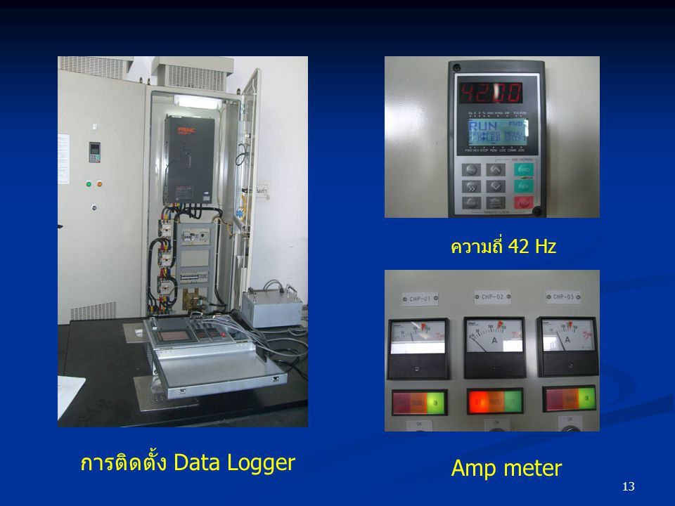 13 การติดตั้ง Data Logger ความถี่ 42 Hz Amp meter