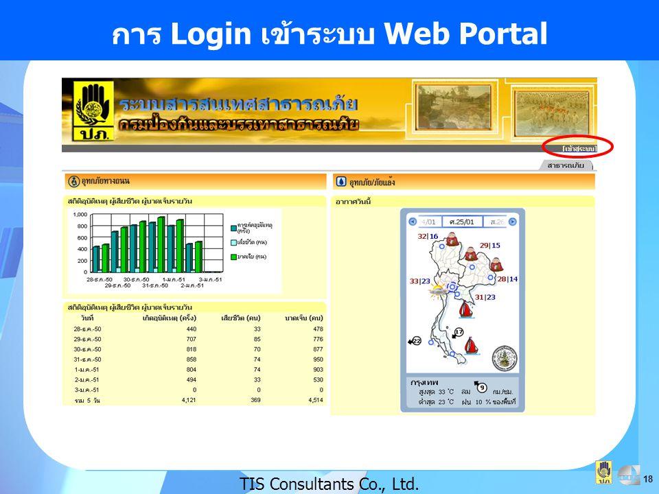 18 การ Login เข้าระบบ Web Portal TIS Consultants Co., Ltd.