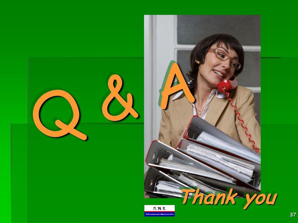 37 Thank you Q & A