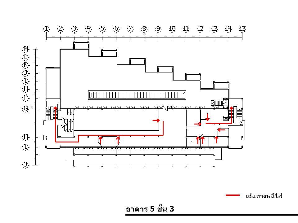 อาคาร 5 ชั้น 3 เส้นทางหนีไฟ