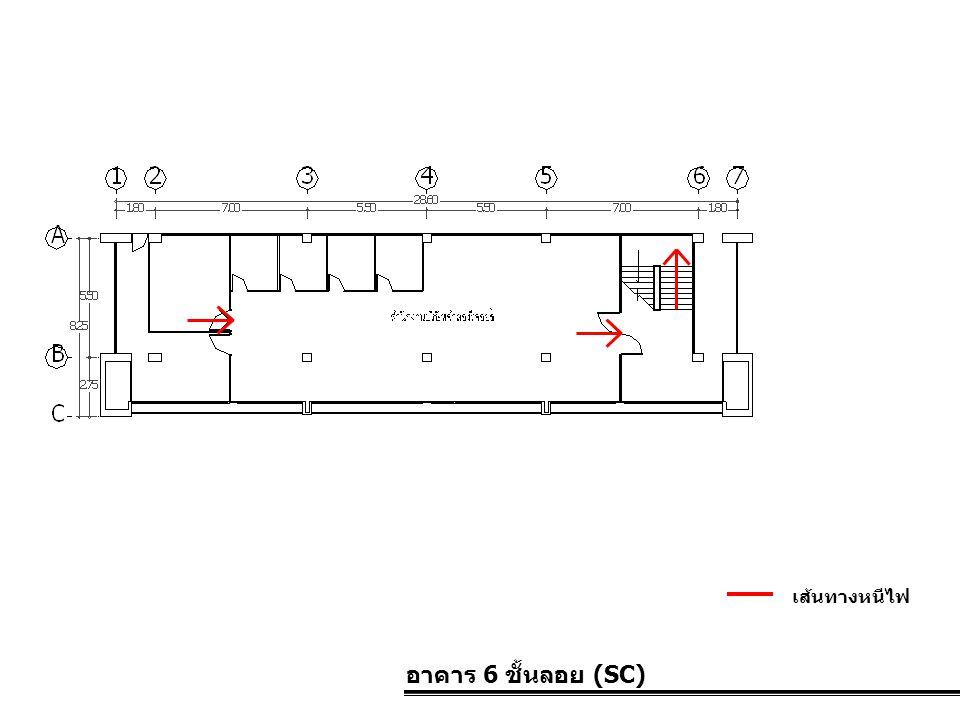 อาคาร 6 ชั้นลอย (SC) เส้นทางหนีไฟ