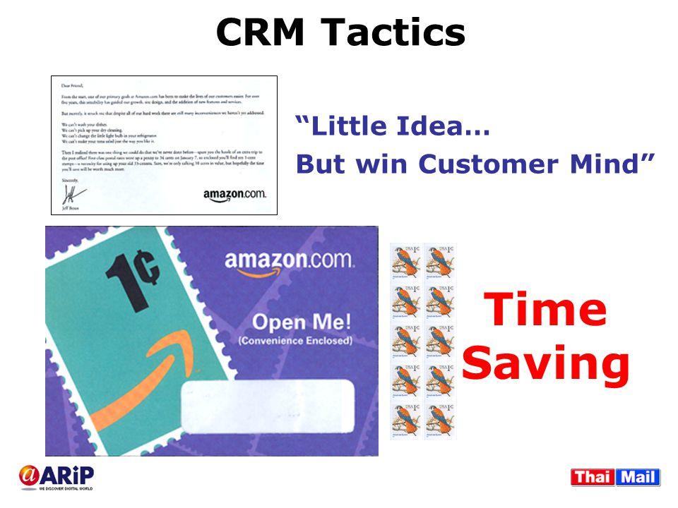 "CRM Tactics ""Little Idea… But win Customer Mind"" Time Saving"