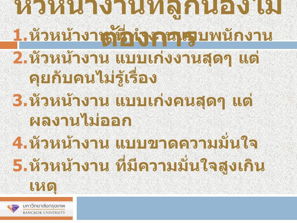 บทบาทหน้าที่การเป็น หัวหน้างาน http://prakal.wordpress.com