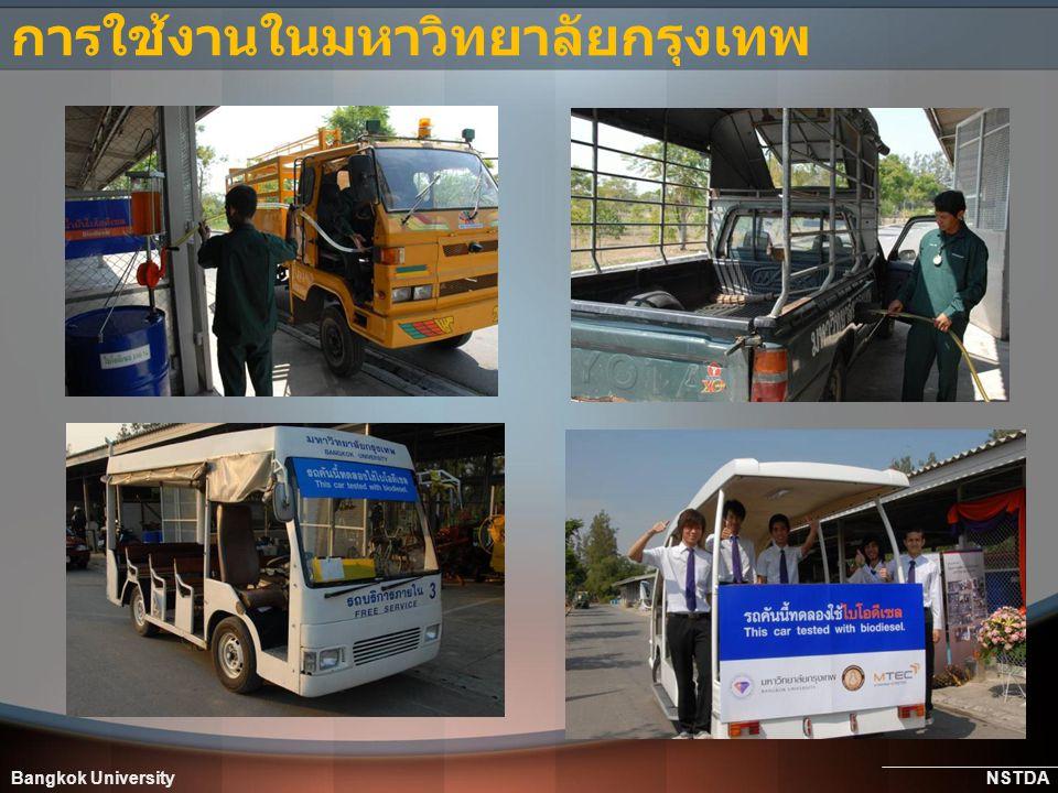 Bangkok University NSTDA การใช้งานในมหาวิทยาลัยกรุงเทพ
