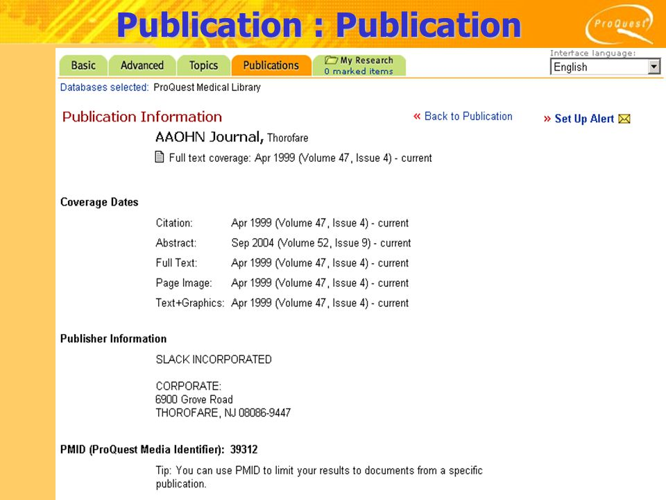 Publication : Publication Information