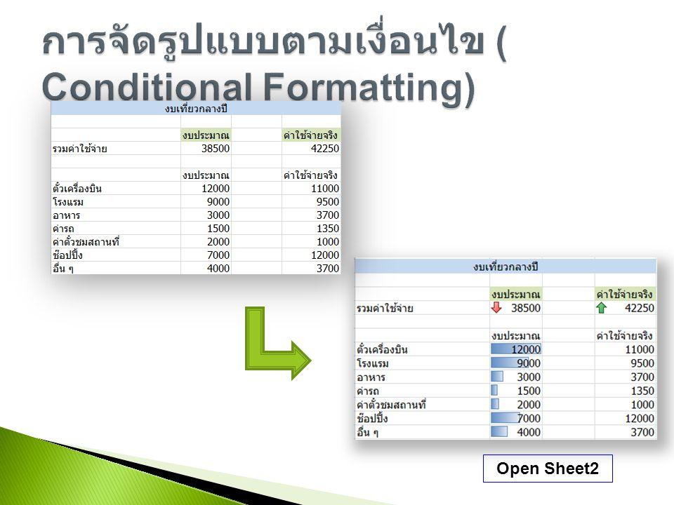 Open Sheet2