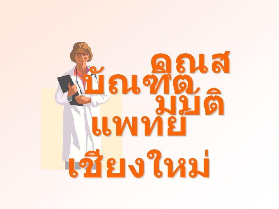 คุณส มบัติ บัณฑิต แพทย์ เชียงใหม่