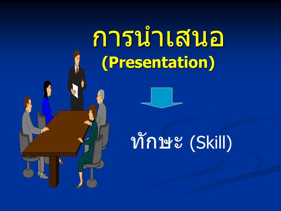 การนำเสนอ (Presentation) ทักษะ (Skill)