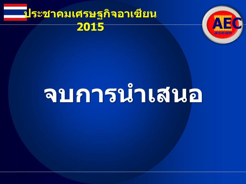 จบการนำเสนอ AEC ประชาคมเศรษฐกิจอาเซียน 2015
