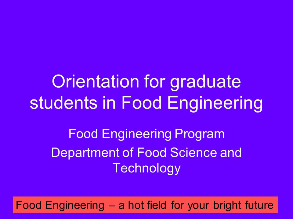 Why we open this course.Master degree in food engineering วท.