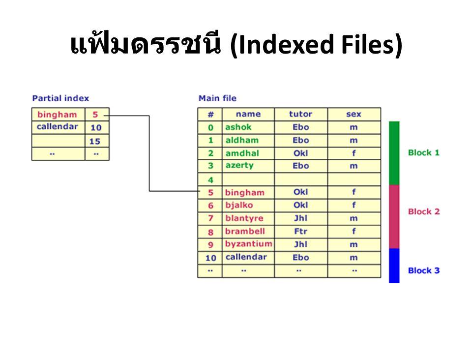 แฟ้มดรรชนี (Indexed Files)