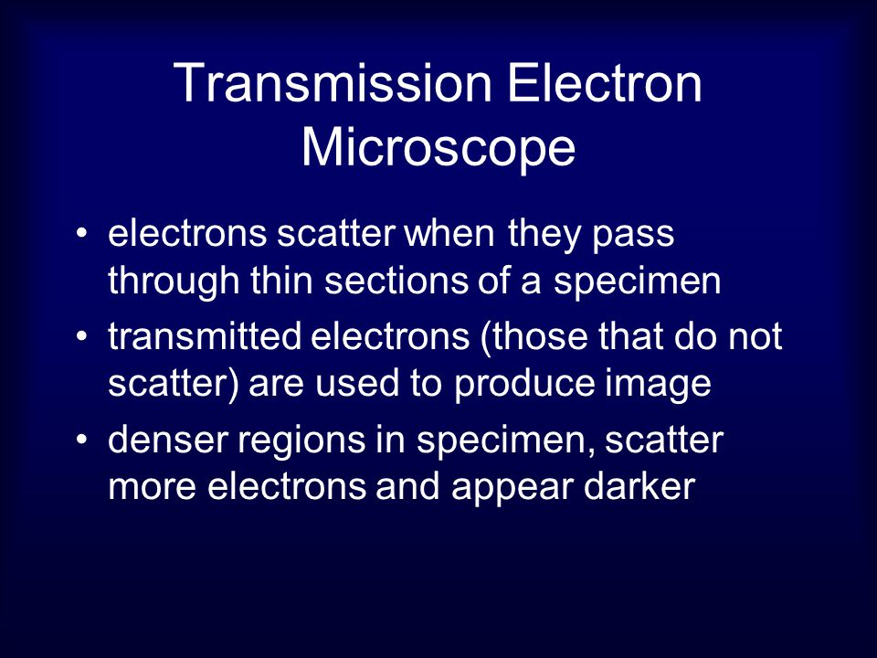 Electron Microscopy ใช้ลำแสงอิเล็คตรอนใน การสร้างภาพ ความยาวคลื่นแสงสั้น กว่าแสงทำให้ภาพที่ เกิดขึ้นมีรายละเอียด สูงขึ้น